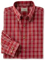 L.L. Bean L.L.Bean Wrinkle-Free Twill Sport Shirt, Traditional Fit Plaid