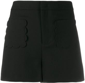 RED Valentino Scalloped Pocket Shorts