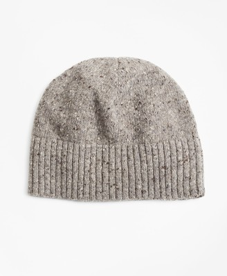 Brooks Brothers Merino Wool Donegal Knit Hat