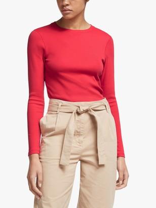 John Lewis & Partners Ribbed Long Sleeve T-Shirt