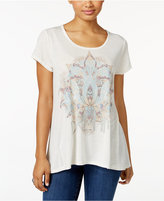Style&Co. Style & Co. Petite Lotus Dream Graphic T-Shirt, Only at Macy's