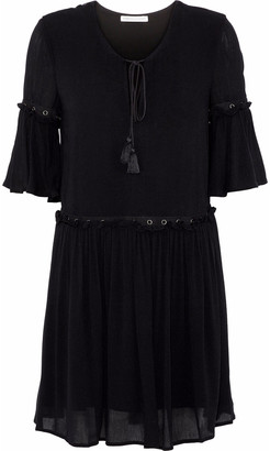 Rebecca Minkoff Helen Embellished Ruffled Gauze Mini Dress