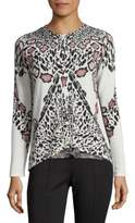 Yigal Azrouel Wool Cheetah-Print Cardigan