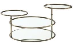 Furniture of America Loli Glass Top Coffee Table