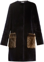 Inès & Marèchal Astrid round-neck shearling coat