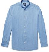 Hackett Slim-Fit Grandad-Collar Cotton-Chambray Shirt