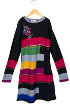 Kenzo Girls' Sequin-Embellished Sweater Dress w/ Tags