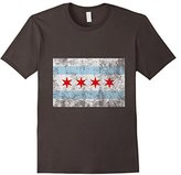 Distressed Fade Chicago City Flag T-Shirt