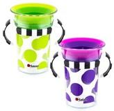 Sassy 7oz Tritan Trainer Cup 2pk - Purple