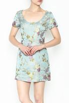 Honey Punch Floral Jacquard Dress