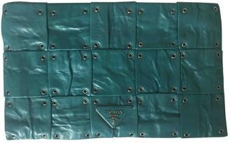 Prada Green Leather Clutch bags