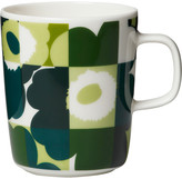 Marimekko Ruutu-Unikko Mug - Green/White