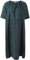 Hache gathered neck shift dress - women - Cotton - 46