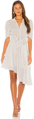 1 STATE Tie Front Striped Dress