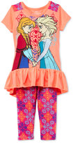 Nannette Disney's® Frozen 2-Pc. Tunic & Capri Leggings Set, Toddler & Little Girls (2T-6X)