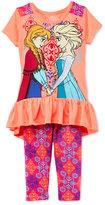 Nannette Disney'sandreg; Frozen 2-Pc. Tunic and Capri Leggings Set, Toddler and Little Girls (2T-6X)