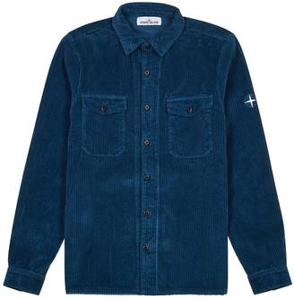 Stone Island Blue corduroy shirt