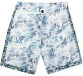 Patrik Ervell Ocean Print Athletic Shorts