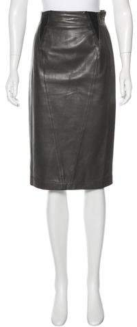 Alaia Quilted Leather Skirt