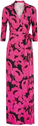 Diane von Furstenberg Abigail Floral-print Silk Wrap Dress