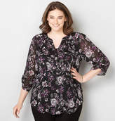 Avenue Floral Shimmer Top with Cami