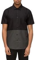 Tavik Men's Wiltern Stripe Colorblock Woven Shirt
