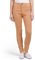 Juniors Super High Rise Washed Skinny Jeans