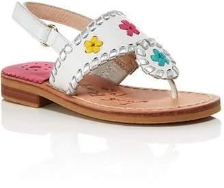 Jack Rogers Girls' Little Miss Jacks Leather Sandals - Walker, Toddler