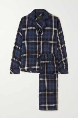 Rails Clara Checked Flannel Pajama Set - Blue