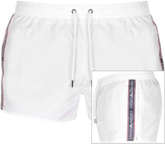 Giorgio Armani Emporio Taped Swim Shorts White