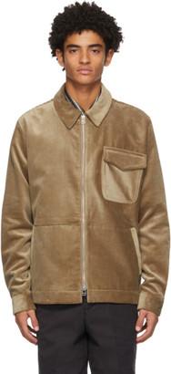 Schnaydermans Tan Corduroy Zip Jacket
