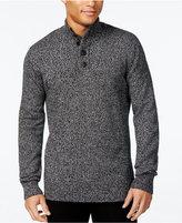 Sean John Men's Twist Yarn Button-Neck Sweater