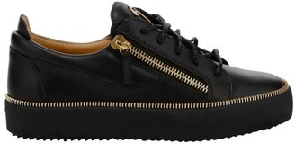 Giuseppe Zanotti Leather Zipper Low-Top Sneakers