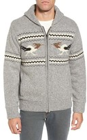 Schott NYC Men's Road Runner Wool Blend Cardigan