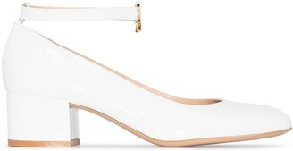 Gianvito Rossi Ankle-Strap 45mm Leather Pumps