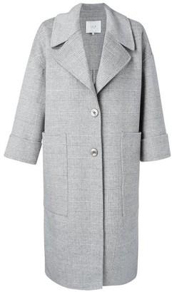 Ya-Ya Long Grey Wool Coat - Size 1