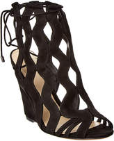 Alexandre Birman Loretta 100 Wedge Suede Sandal