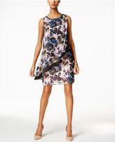 SL Fashions Floral-Print Ruffled Popover Dress