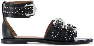 Givenchy Studded Buckled Flat Sandals