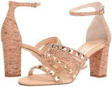 Jerome C. Rousseau Cork Studded Ankle Strapped Heel