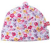 Zutano White Floral Violetta Hat