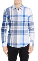 BOSS Men's Reid Slim Fit Plaid Sport Shirt