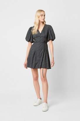 French Connection Graziana Puff Sleeve Ditsy Print Dress