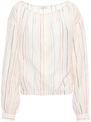 Joie Striped Cotton-blend Gauze Blouse