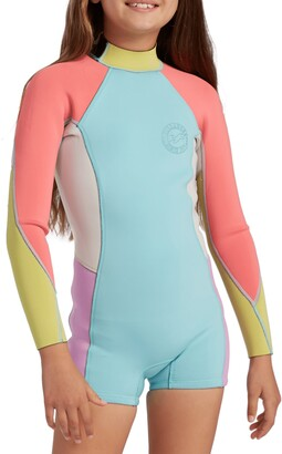 Billabong Kids' Spring Fever One-Piece Rashguard Swimsuit
