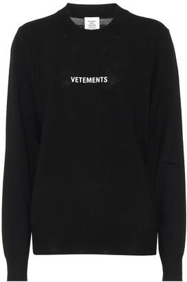 Vetements Merino wool sweater