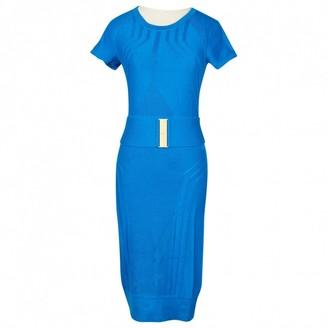 Diane von Furstenberg \N Blue Wool Dresses