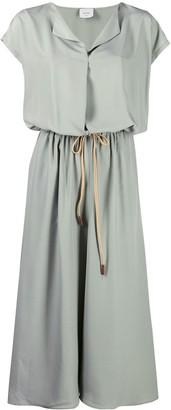 Alysi Drawstring Midi Dress