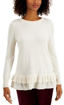 Style&Co. Style & Co Plus Size Chiffon-Hem Tunic, Created for Macy's