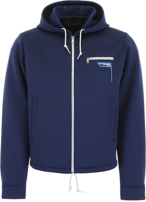Prada Logo Patch Hooded Jacket